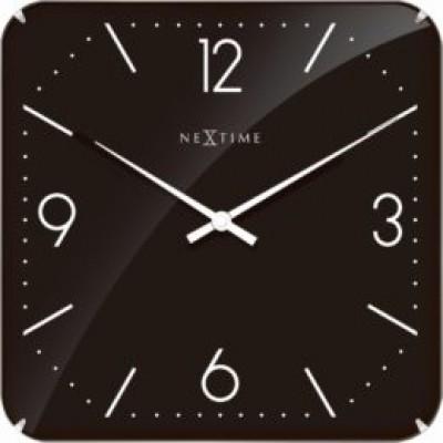 """Часы настенные """"Basic Square Dome"""", черные"""