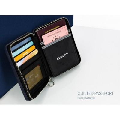 Кошелек на молнии OGON Quilted Passport, синий
