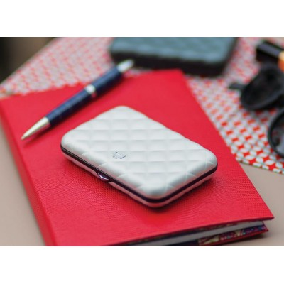 Кардхолдер OGON Quilted Button на 10 карт, серый