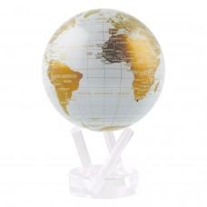 """Глобус самовращающийся Solar Globe Mova """"Политическая карта"""" 11,4 см золотистый"""