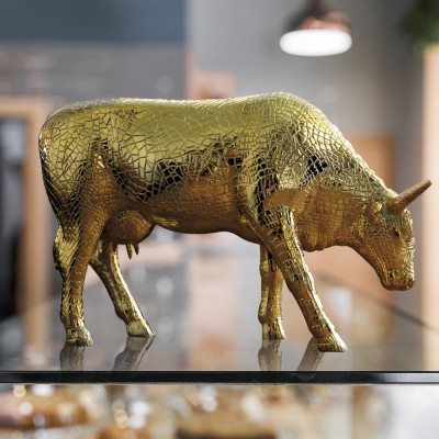 """Коллекционная статуэтка корова """"Mira Moo-Gold"""", Size L"""