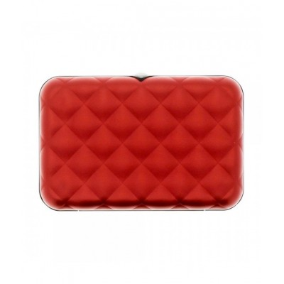 Кардхолдер OGON Quilted Button на 10 карт ,красная
