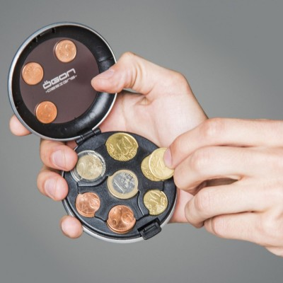Монетница OGON Euro, розово-золотистая