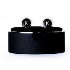 Запонки с буквой K