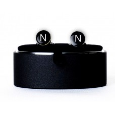 Запонки с буквой N