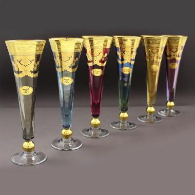 """Бокалы для шампанского """"Royal Veneziano"""" 6шт."""