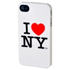 "Крышка для Iphone 4S ""Ny Logo"", белая"