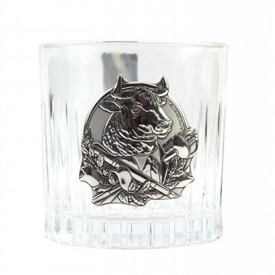 """Сет для виски Boss Crystal """"ГОД БЫКА"""", графин, 2 стакана, серебро"""