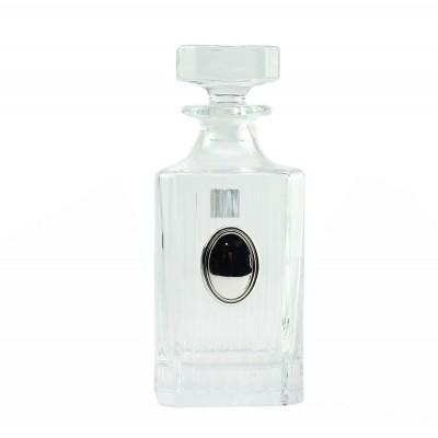 """Сет для виски Boss Crystal """"ГОД БЫКА"""", графин, 4 стакана, серебро"""