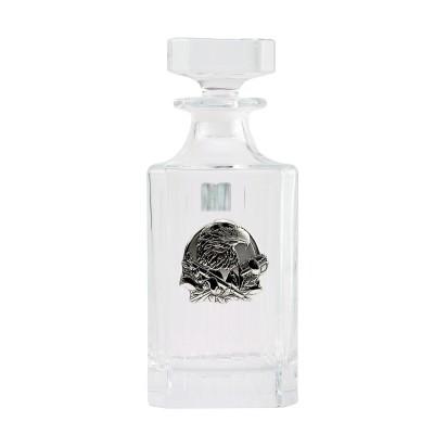 """Сет для виски Boss Crystal """"ГЕНЕРАЛЬСКИЙ КВИНТА"""", графин, 4 стакана, серебро"""