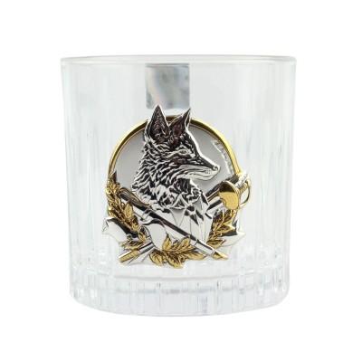"""Сет хрустальных стаканов Boss Crystal """"БОКАЛЫ ЛИДЕР """", 6 бокалов, серебро"""