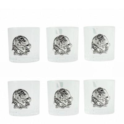 """Сет хрустальных стаканов Boss Crystal """"БОКАЛЫ ДИРЕКТОРСКИЕ """", 6 бокалов, серебро"""
