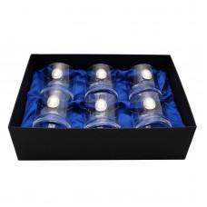 Сет хрустальных стаканов Boss Crystal «МОДЕРН», 6 бокалов, серебро