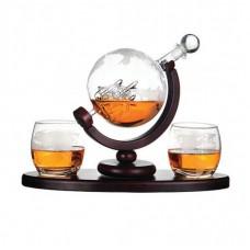 "Набор для виски ""Вокруг света"" (графин и 2 стакана)"