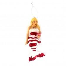 """Фигура подвесная """"Мисс Сахарная Санта"""" 20 см"""