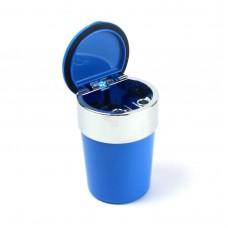 Пепельница для машин Ashtray c LED-подсветкой, голубая