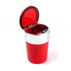 Пепельница для машин Ashtray c LED-подсветкой, красная