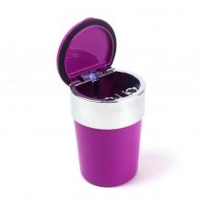 Пепельница для машин Ashtray c LED-подсветкой, фиолетовый