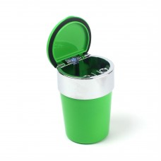 Пепельница для машин Ashtray c LED-подсветкой, зеленый