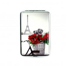 """Портсигар """"BLACK&RED"""", мишки и розы"""