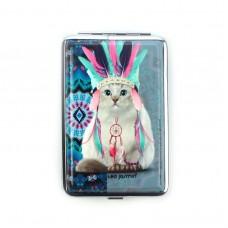 "Портсигар ""TEO-кот"" на 12 сигарет, голубой"
