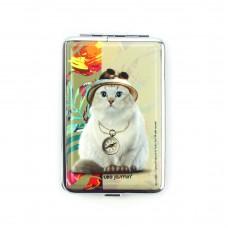 """Портсигар """"TEO-кот"""" на 12 сигарет, кремовый"""