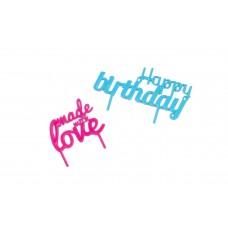 Баннер на торт Happy BirthDay