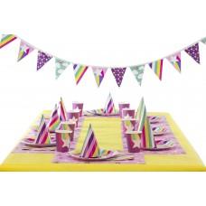 Набор для празднования Fantasy (салфетки, посуда, чашки, шляпки, гирлянда)