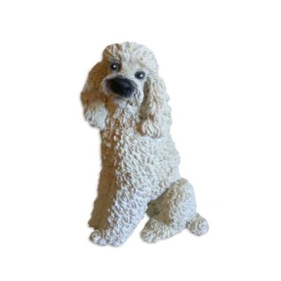 Статуэтка собачка пудель белый