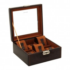 Шкатулка для хранения часов Friedrich Lederwaren Bond 6, коричневая