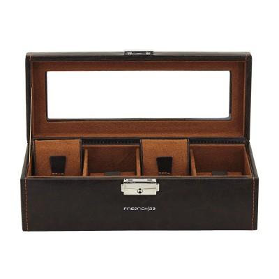 Шкатулка для хранения часов Friedrich Lederwaren Bond 4,  коричневая