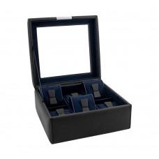 Шкатулка для хранения часов Friedrich Lederwaren Bond 6, черная