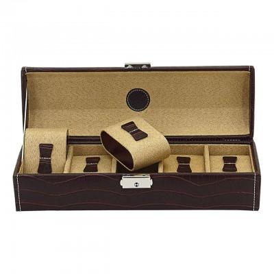 Шкатулка для хранения часов Friedrich Lederwaren Le Croc 5, коричневая