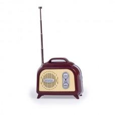 "Мини-радио ""Retro FM"", трапеция, красное"