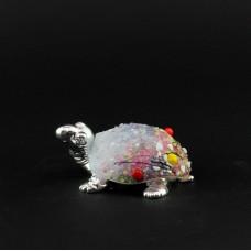 """Статуэтка """"Черепаха,цветочный мотив"""" 9,5 см"""