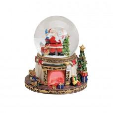 """Снежный шар музыкальная шкатулка """"Санта"""" с 8 мелодиями и подсветкой"""