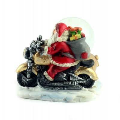 "Снежный шар ""Санта на мотоцикле"""
