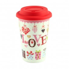 "Термокружка ""Mug to go love"", фарфор"