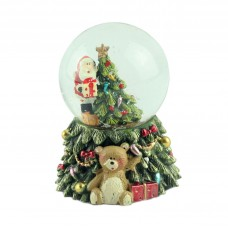 "Снежный шар ""Санта на дереве"" с подсветкой"