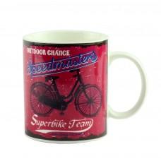 """Чашка """"Велосипед"""", красная 9 см"""