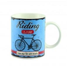 """Чашка """"Велосипед"""", синяя 9 см"""
