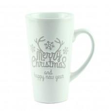 """Чашка """"Merry Christmas"""", керамика белая 15 см"""