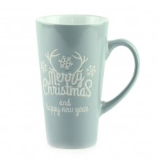 "Чашка ""Merry Christmas"", керамика серая 15 см"