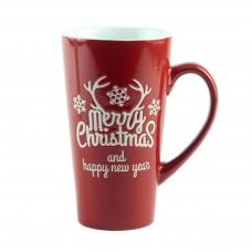 """Чашка """"Merry Christmas"""", керамика красный 15 см"""