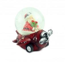 "Снежный шар ""Санта на красном самолёте"", 9 см"