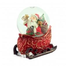 """Снежный шар """"Санта Клаус на санках"""""""