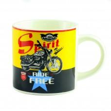 "Чашка ""Motorbike Desing Assorted"", желтая 9 см"