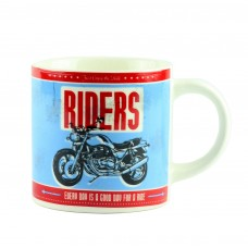 "Чашка ""Motorbike Desing Assorted"", голубая 9 см"