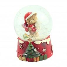 """Снежный шар """"Мишка в колпаке"""", 9 см"""