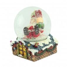 "Снежный шар ""Санта на крыше"", 8 см"